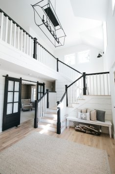 Farmhouse staircase in Minnesota