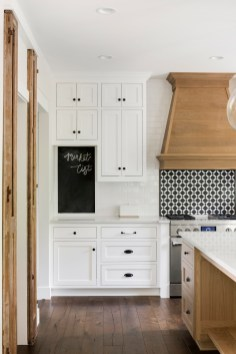 cabinets and blackboard