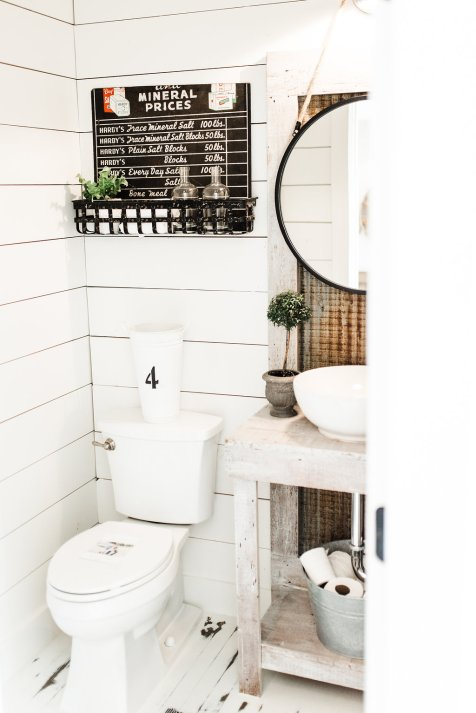 Farmhouse Powder Room Ideas