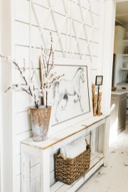 Farmhouse entryway horse photo