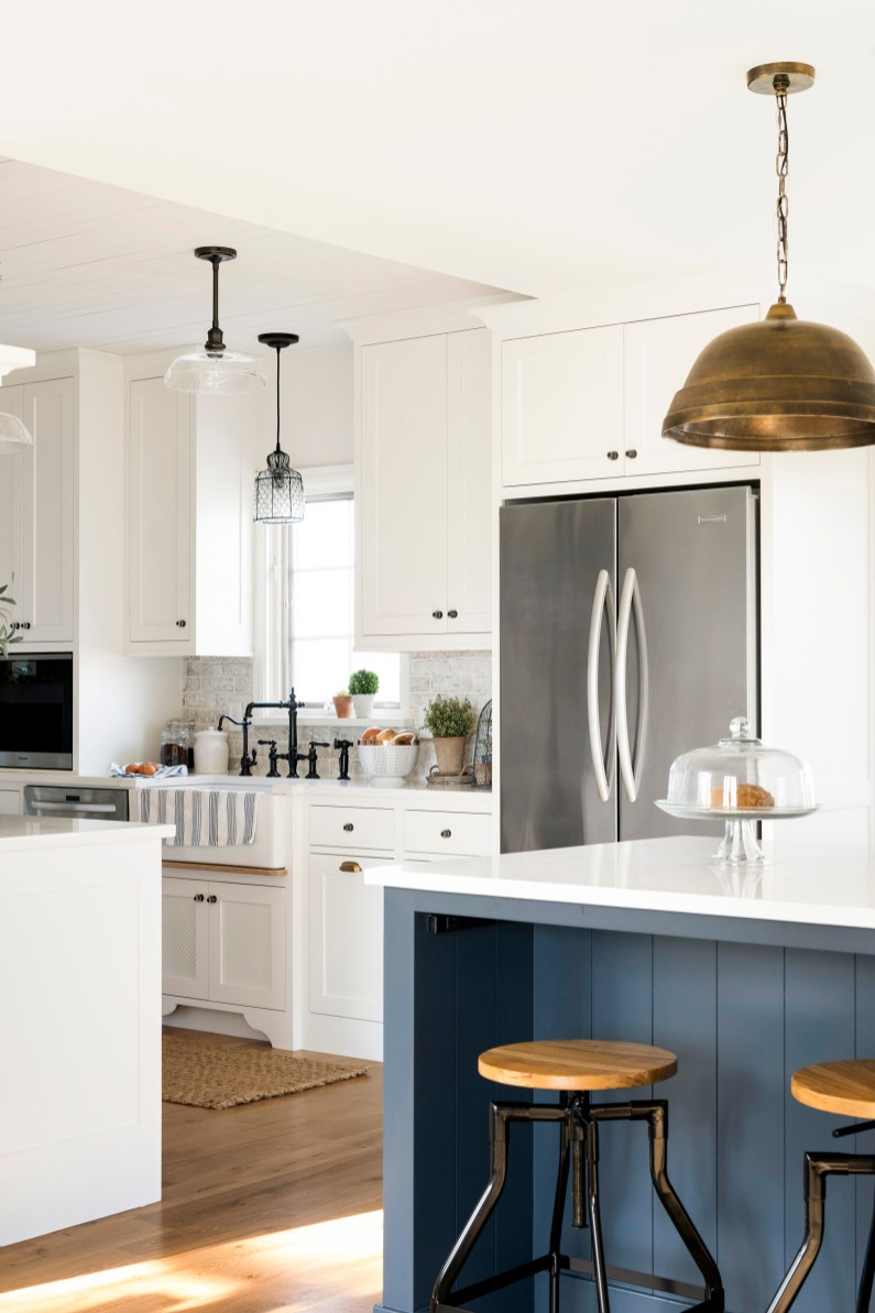 stainless steel fridge country home