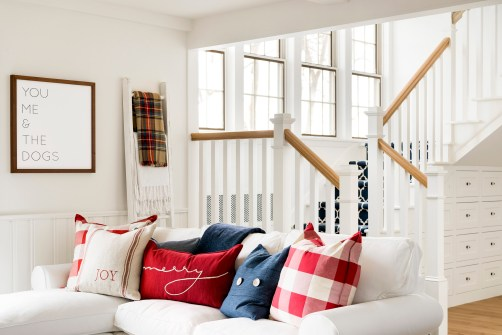 country living room decor ideas for christmas