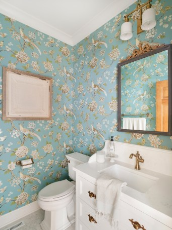 Cottage Style Home Powder Room Ideas
