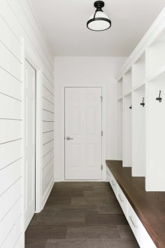 White Entryway and Mudroom