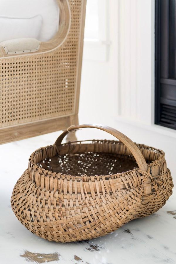 Antique Gathering Basket
