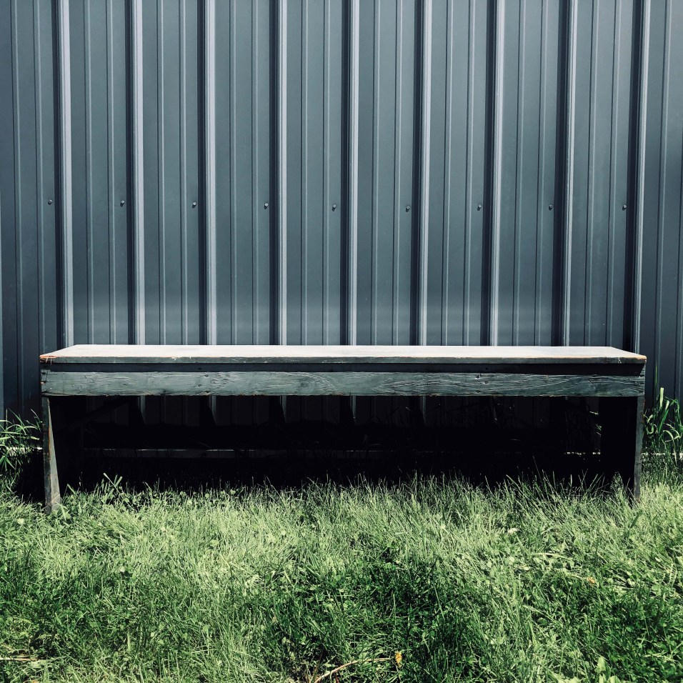 Blue Farmhouse Bench