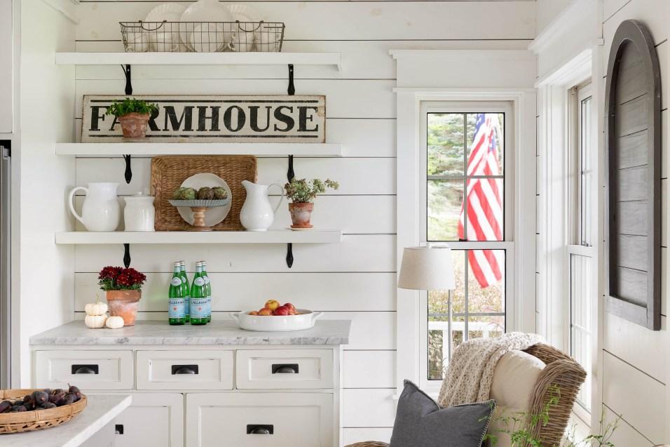 fall farmhouse kitchen decor