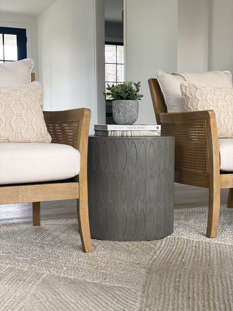 cream colored chairs