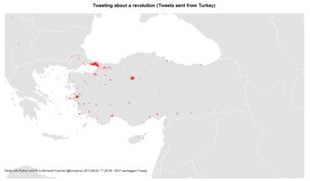 Turkish Tweets about the Gezi Park protests 1-2 Jun