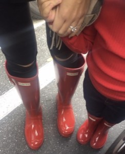 Matching Red Hunter Boots