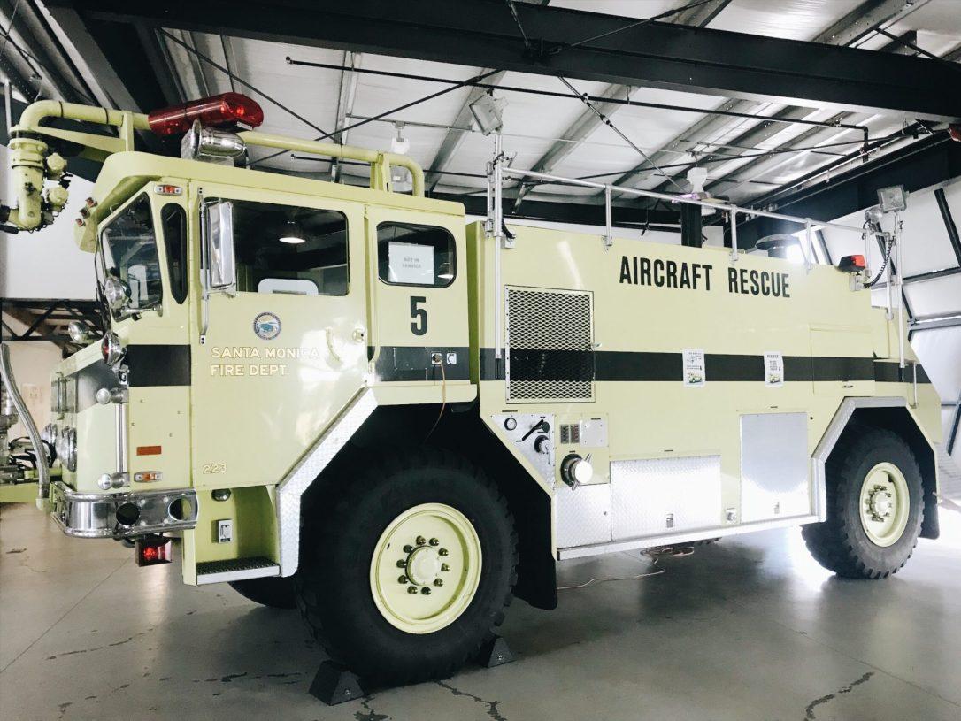 Santa Monica Airport Museum of Flying Airport Crash Tender Firetruck image