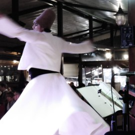 Whirling Dervishes at Dinner - Istanbul Turkey - by Anika Mikkelson - Miss Maps