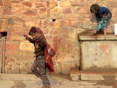 Skipping - Agra India - December 2014