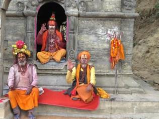Sadhu Men - Pashupati Nepal - by Anika Mikkelson - Miss Maps