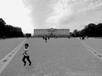 Running from the Palace- Oslo, Norway - by Anika Mikkelson - Miss Maps