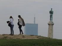 Pals and Podednik Watch over the City - Belgrade, Serbia - by Anika Mikkelson - Miss Maps
