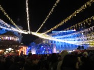 Bucharest's Christmas Market attracts a crowd nearly every day in December - - Bucharest Romania - by Anika Mikkelson - Miss Maps - www.MissMaps.com