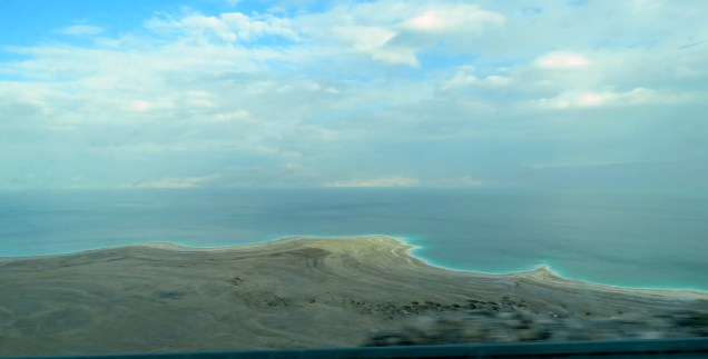 The salty banks of the Dead Sea - when I first saw them last year, I vowed it wouldn't be the final time and I was right - by Anika Mikkelson - Miss Maps - www.MissMaps.com