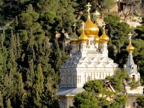 Church of Mary Magdalene on Jerusalem's Mount of Olives - by Anika Mikkelson - www.MissMaps.com