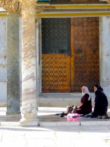 Women praying outside the Temple Mount in Jerusalem- by Anika Mikkelson - Miss Maps - www.MissMaps.com