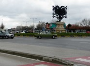 Mercedes and Double Eagle - Typical Tirana Albania - by Anika Mikkelson - Miss Maps - www.MissMaps.com