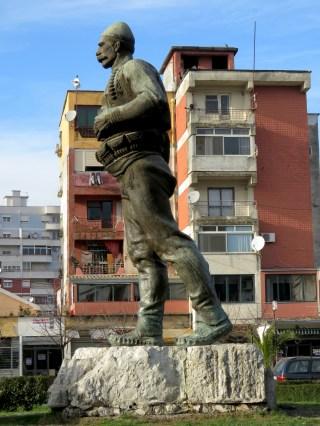 Statue of Albanian Hero Isa Boletini - Shkoder Albania - by Anika Mikkelson - Miss Maps - www.MissMaps.com