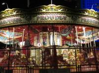 Carousel near the London Eye at Night - London, England, United Kingdom - by Anika Mikkelson - Miss Maps