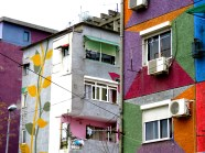 Colors of Downtown Tirana Albania - by Anika Mikkelson - Miss Maps - www.MissMaps.com