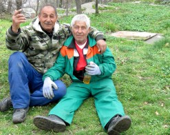 Rag Dolls - Workers on a break - They desperately wanted their photo taken - Plovdiv, Bulgaria - by Anika Mikkelson - Miss Maps