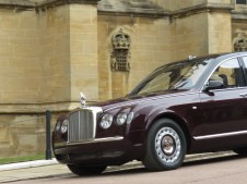 The Queen Arrives at St. George's Chapel at Windsor Castle - Windsor, London, UK - Easter Sunday 2016 - by Anika Mikkelson - Miss Maps - www.MissMaps.com