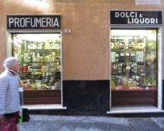 A morning dose at the Profumeria, Dolci and Liquori Store - Genoa, Italy - by Anika Mikkelson - Miss Maps - www.MissMaps.com