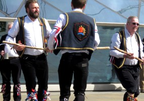 Dancing and Brews - Blackheath Morris Men at Cutty Shark Ship in Greenwich London UK - by Anika Mikkelson - Miss Maps