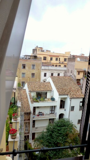 The View from our apartment in Rome Italy - by Anika Mikkelson - Miss Maps - www.MissMaps.com