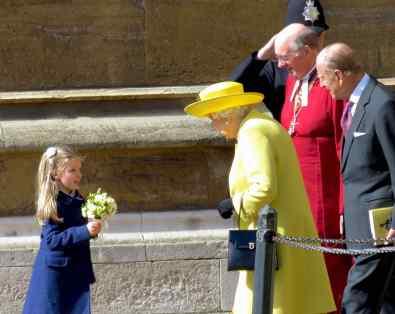 Queen Elizabeth on Easter Sunday - Windsor Palace - England - by Anika Mikkelson - Miss Maps - www.MissMaps.com