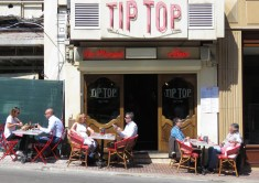 Tipped Tables at Tip Top Cafe - Monaco - by Anika Mikkelson - MissMaps.com