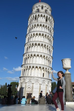 Yep I gave in - Leaning Tower of Pisa, Italy - by Anika Mikkelson - Miss Maps - www.MissMaps.com