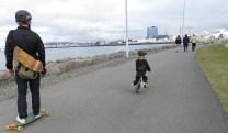 Cool Dad Award - Reykjavik Iceland - by Anika Mikkelson - Miss Maps - www.MissMaps.com