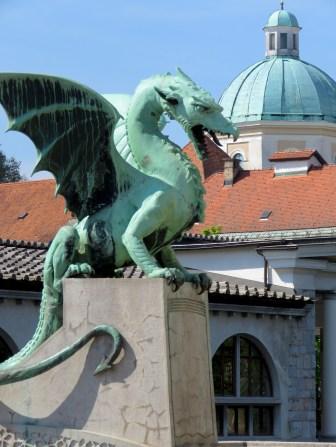 Dragons of Ljubljana Slovenia - by Anika Mikkelson - Miss Maps - www.MissMaps.com