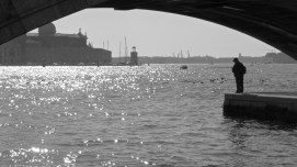 Fishing on the dock of the bay - Venice Italy - by Anika Mikkelson - Miss Maps - www.MissMaps.com