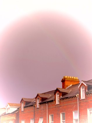 Rainbow over Belfast, North Ireland- by Anika Mikkelson - Miss Maps - www.MissMaps.com