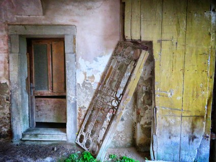 Abandoned House Door at Vizir - Slovenia - by Anika Mikkelson - Miss Maps - www.MissMaps.com