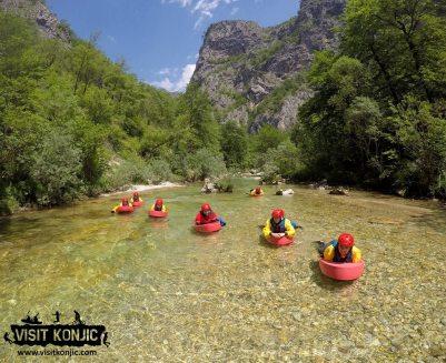Canyoning on Rakitnica River - Bosnia and Herzegovina BiH - photo by VisitKonjic.com