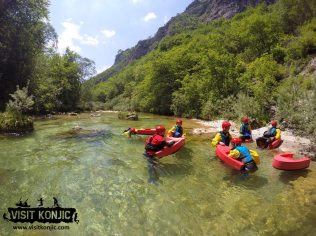 Soaking up the sun on River Neretva - Bosnia and Herzegovina BiH - photo by VisitKonjic.com