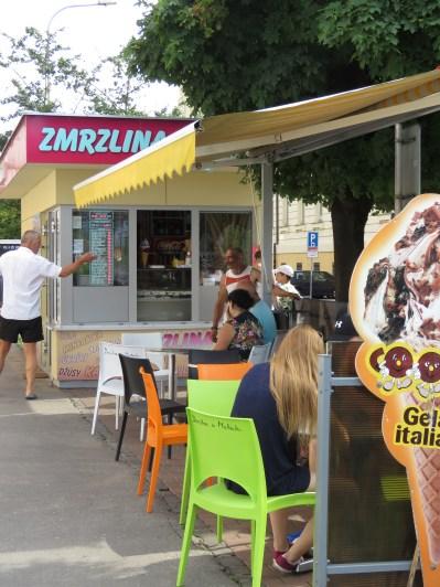 Ice Cream Stand - Nitra Slovakia - by Anika Mikkelson - Miss Maps - www.MissMaps.com