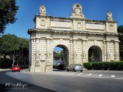 Gates into Valletta - Malta - by Anika Mikkelson - Miss Maps - www.MissMaps.com