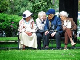 Gossip has no age limit - Women in St Petersburg Russia - May 2016