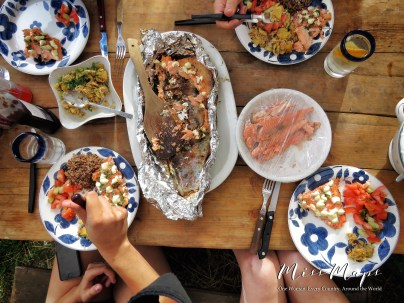 Grilled trout and fresh vegetables - Northern Estonia - by Anika Mikkelson - Miss Maps - www.MissMaps.com