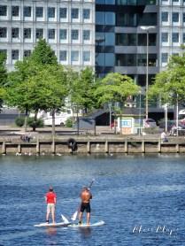 """Helsinki Scavenger Hunt - Paddle Boarding """"SUP Boarding"""" - Helsinki Finland - by Anika Mikkelson - Miss Maps - www.MissMaps.com"""