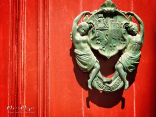Red Door and Decoration - Mdina - Malta - by Anika Mikkelson - Miss Maps - www.MissMaps.com