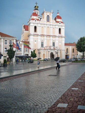 Saint Casimir Cathedral after Rain - Vilnius Lithuania - by Anika Mikkelson - Miss Maps - www.MissMaps.com